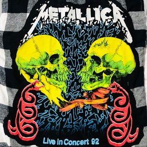 Other - Custom Metallica Rock Band Tee & Hooded Flannel